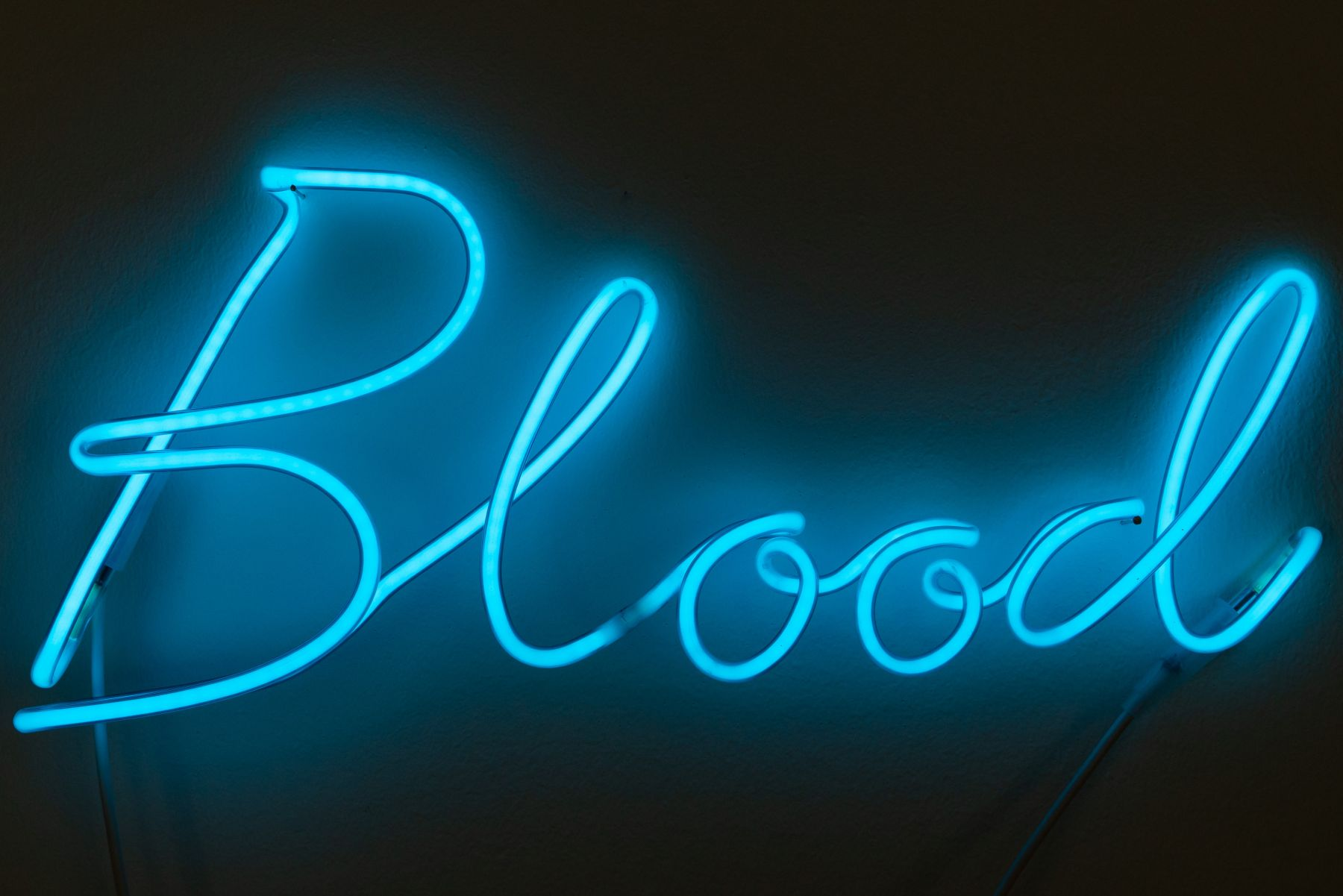 Blood Neon Sculpture from Limelight by Conor McCreedy