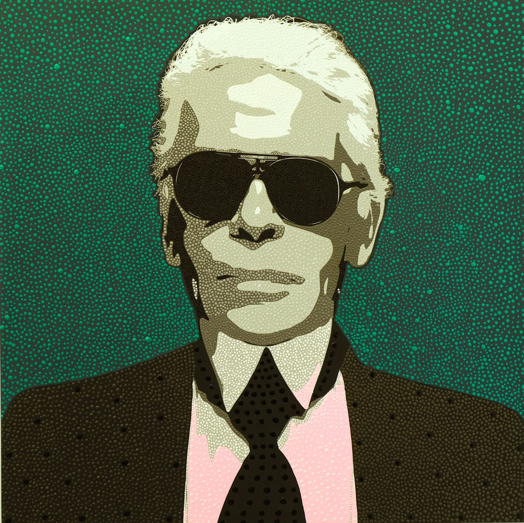 Karl Lagerfeld by Philip Tsiaras at HG Contemporary founded by Philippe Hoerle-Guggenheim