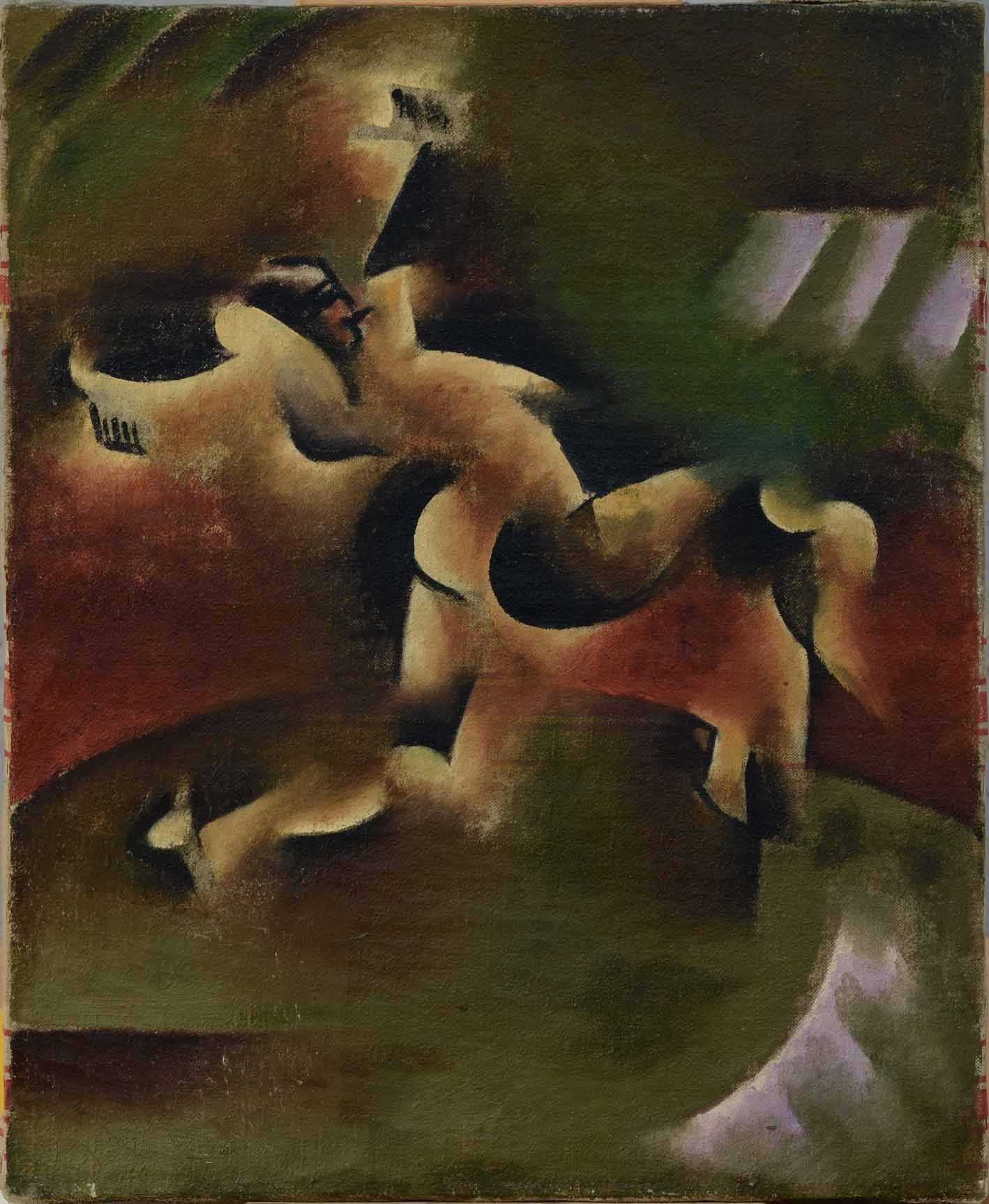 Vladimir Davidovich Baranov-Rossiné (1888–1944), Gypsy Dancer, 1914, oil on canvas, 46 x 38 cm / 18.11 x 14.96 in.