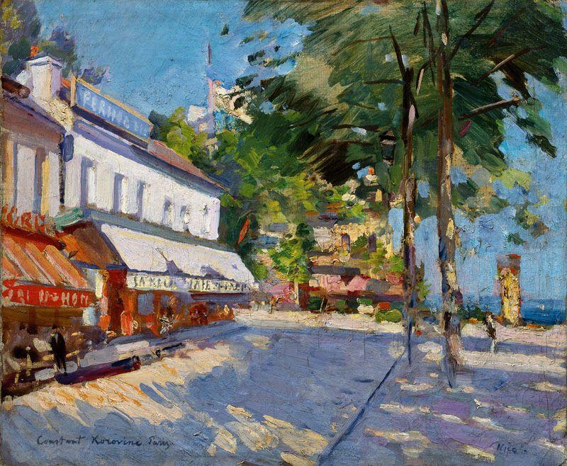 Konstantin Korovin, Street Scene in Nice