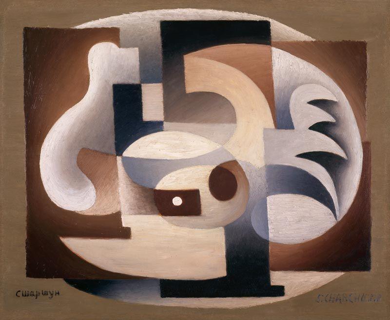 Serge Charchoune, Ornamental Cubism, ca. 1923, oil on canvas, 49 x 53 cm