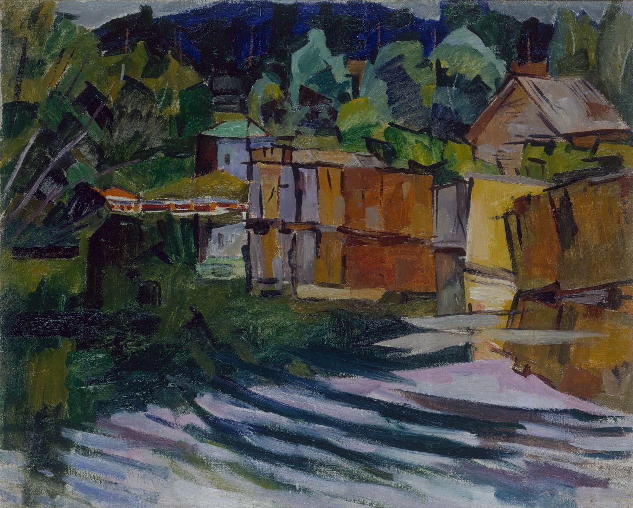 Aristarkh Lentulov, Lakeshore 1918