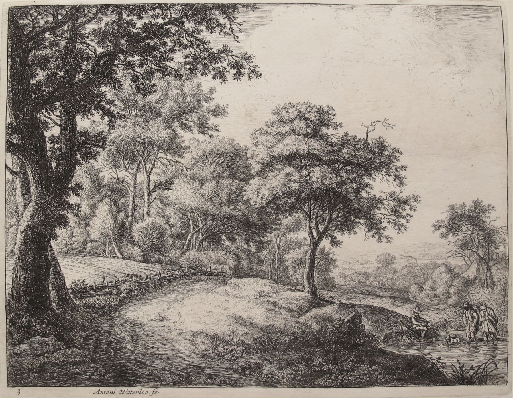 The Great Landscapes III, (3rd State), circa 1650  Etching