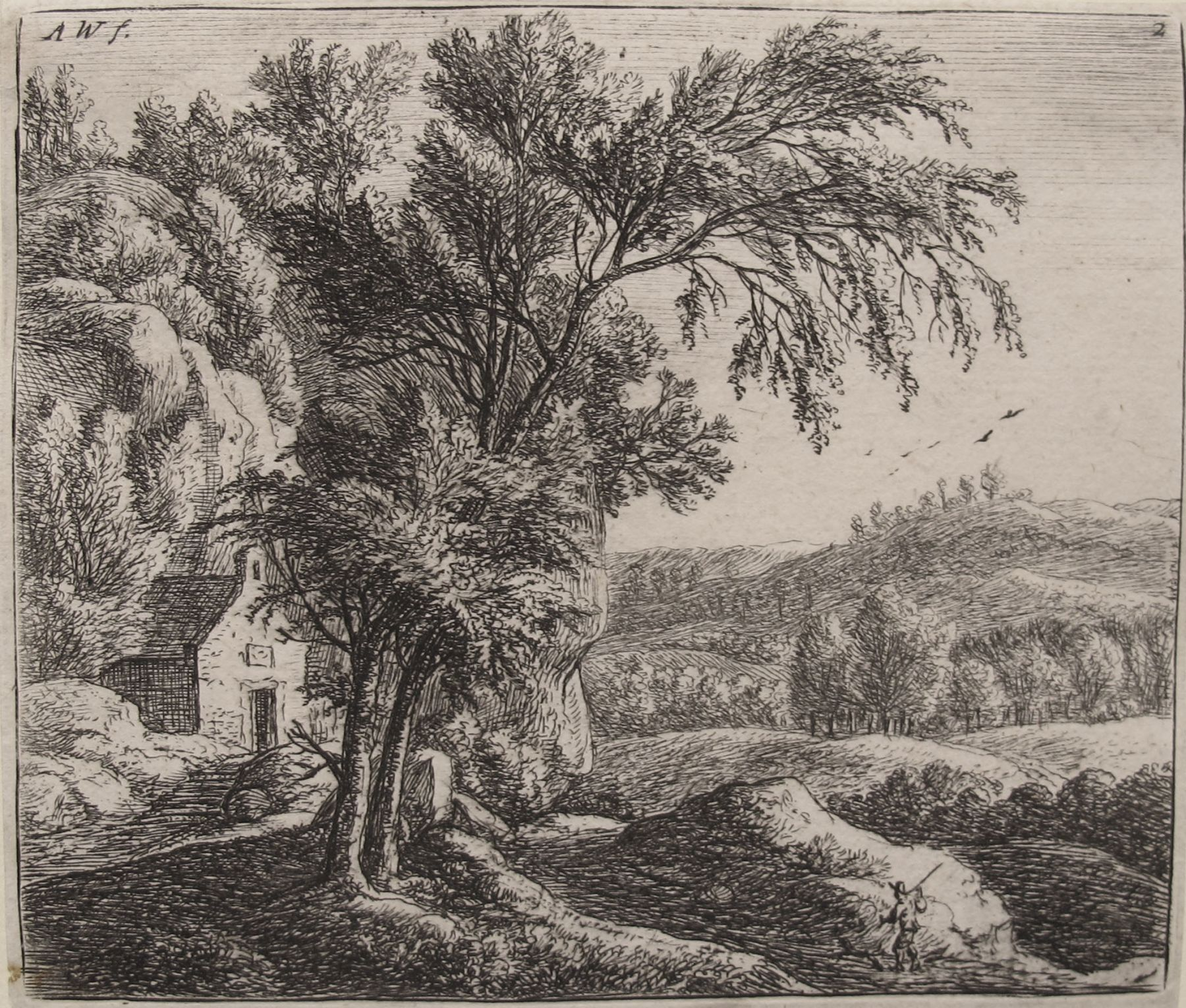 The Hermitage (2nd State of three States)  Etching