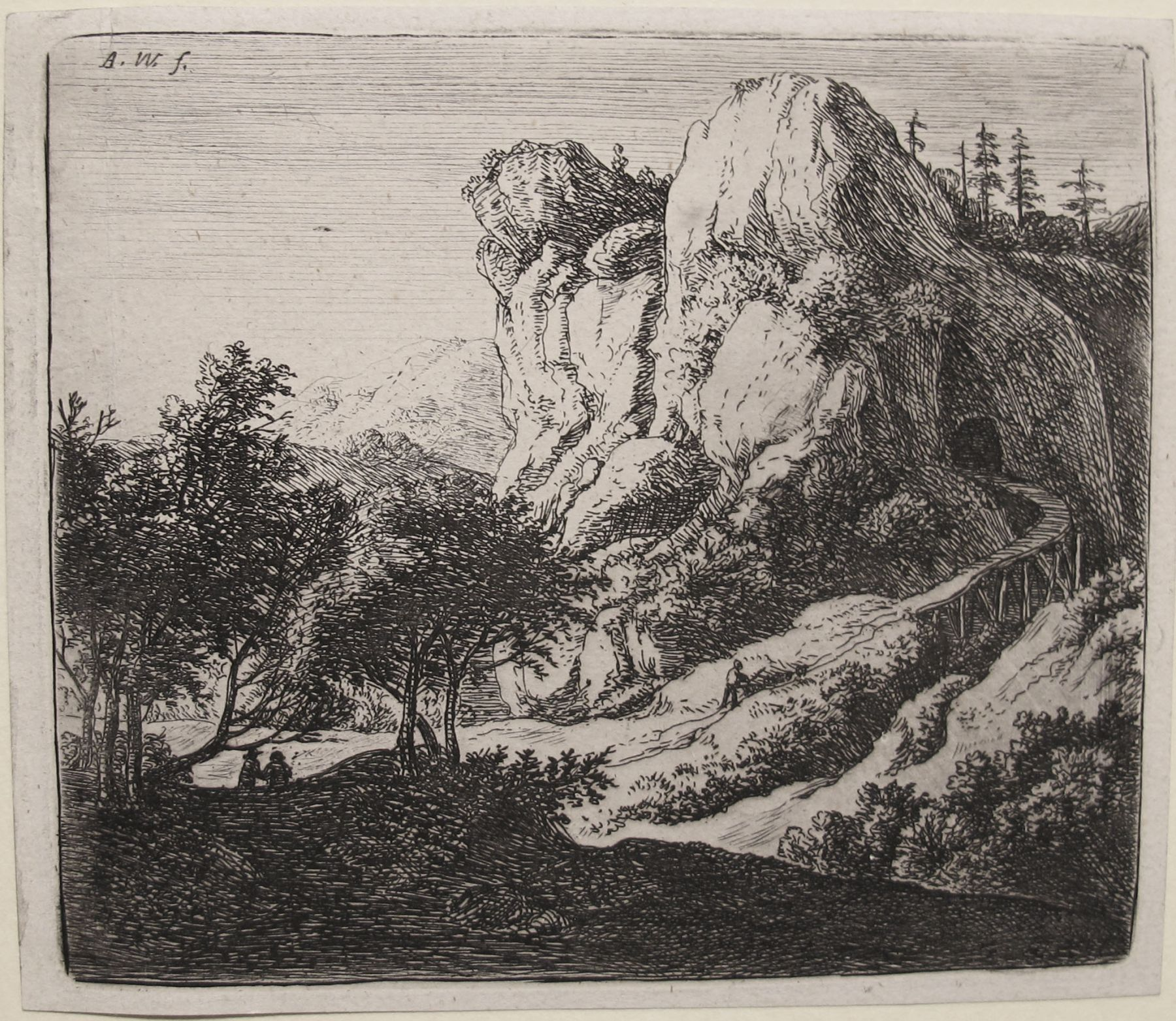 The Little Wooden Bridge (2nd State)  Etching