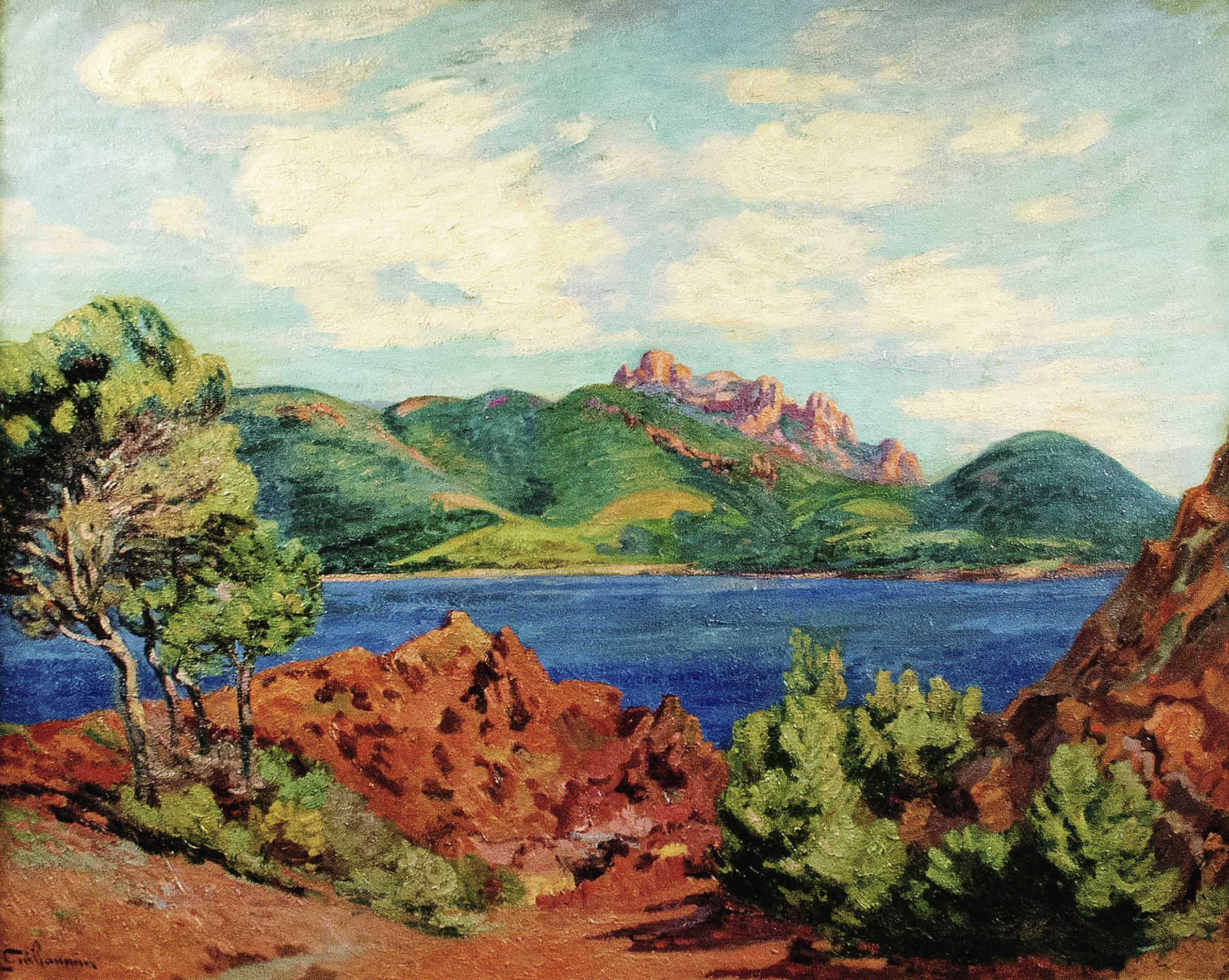 Jean-Baptiste-Armand Guillaumin - The Bay of Agay
