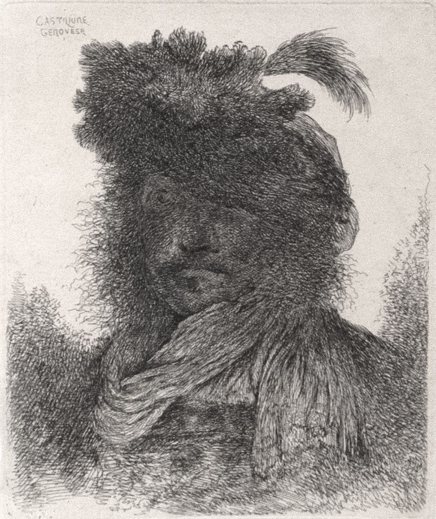 Bearded Man with Shadowed Face
