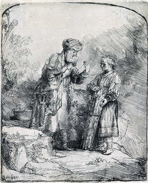 Rembrandt - Abraham and Isaac
