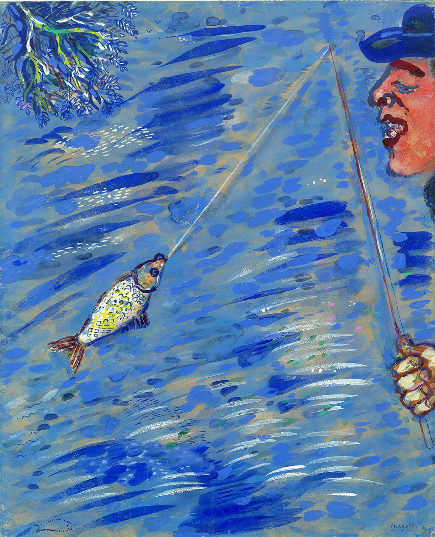 Chagall - The Little Fish and the Fisherman
