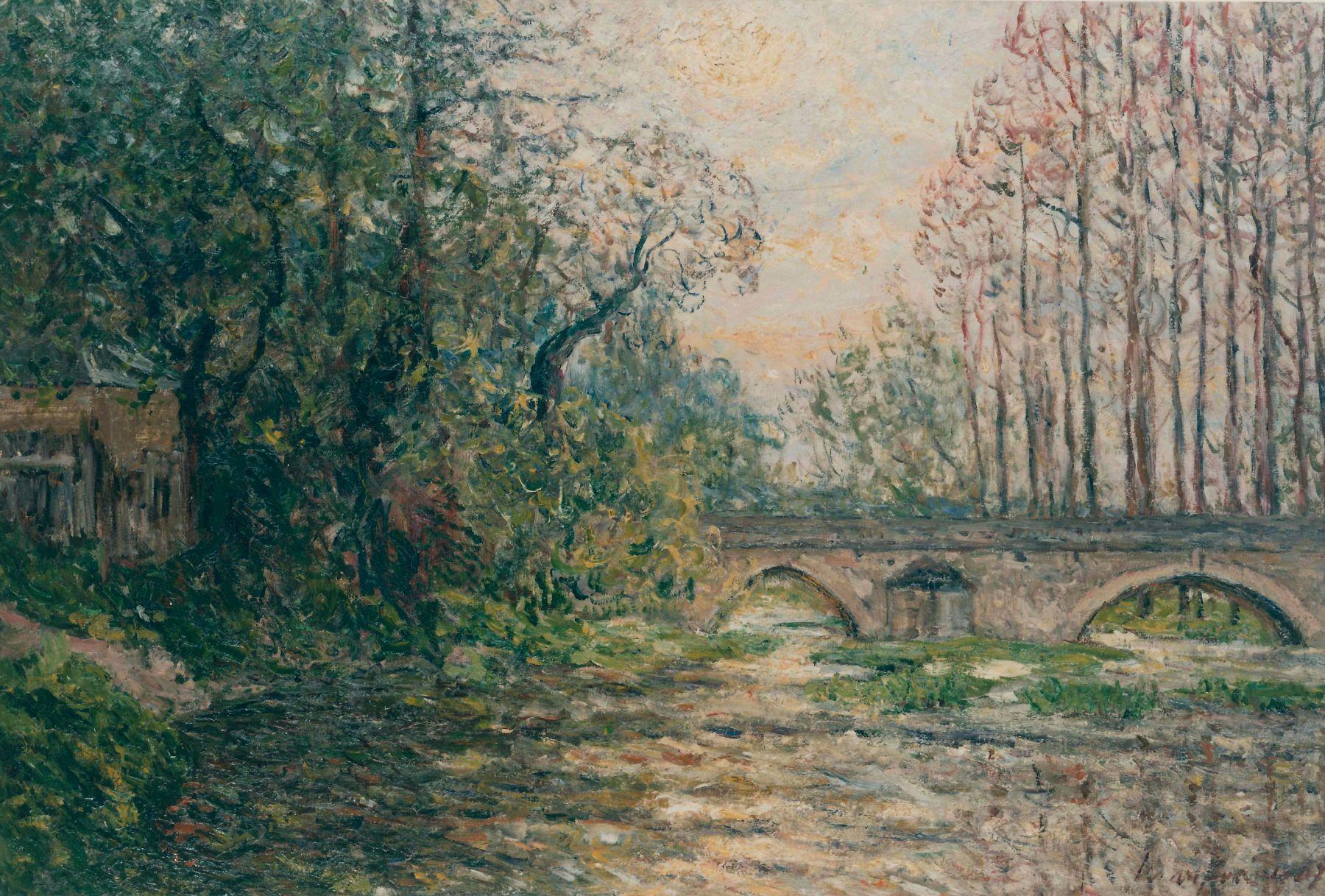 Sunset on the Loir
