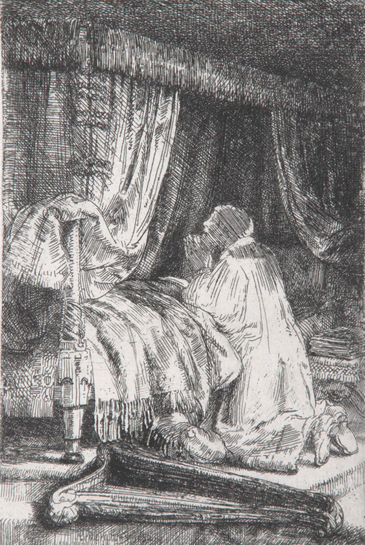 Rembrandt - David in Prayer