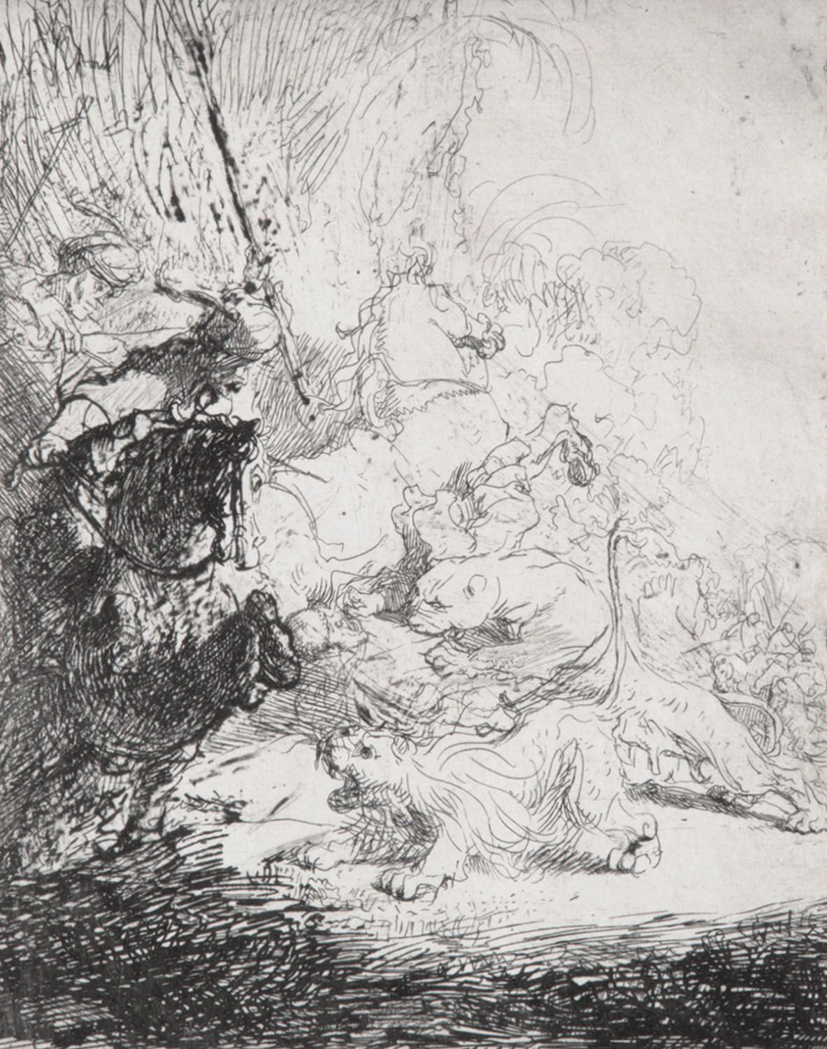 Rembrandt - Small Lion Hunt
