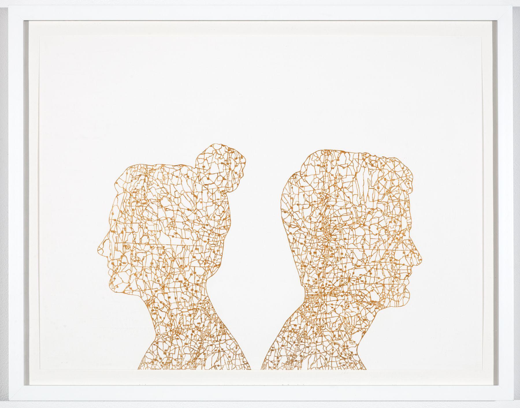 NIKKI ROSATO If I paint us (in gold) I, 2016