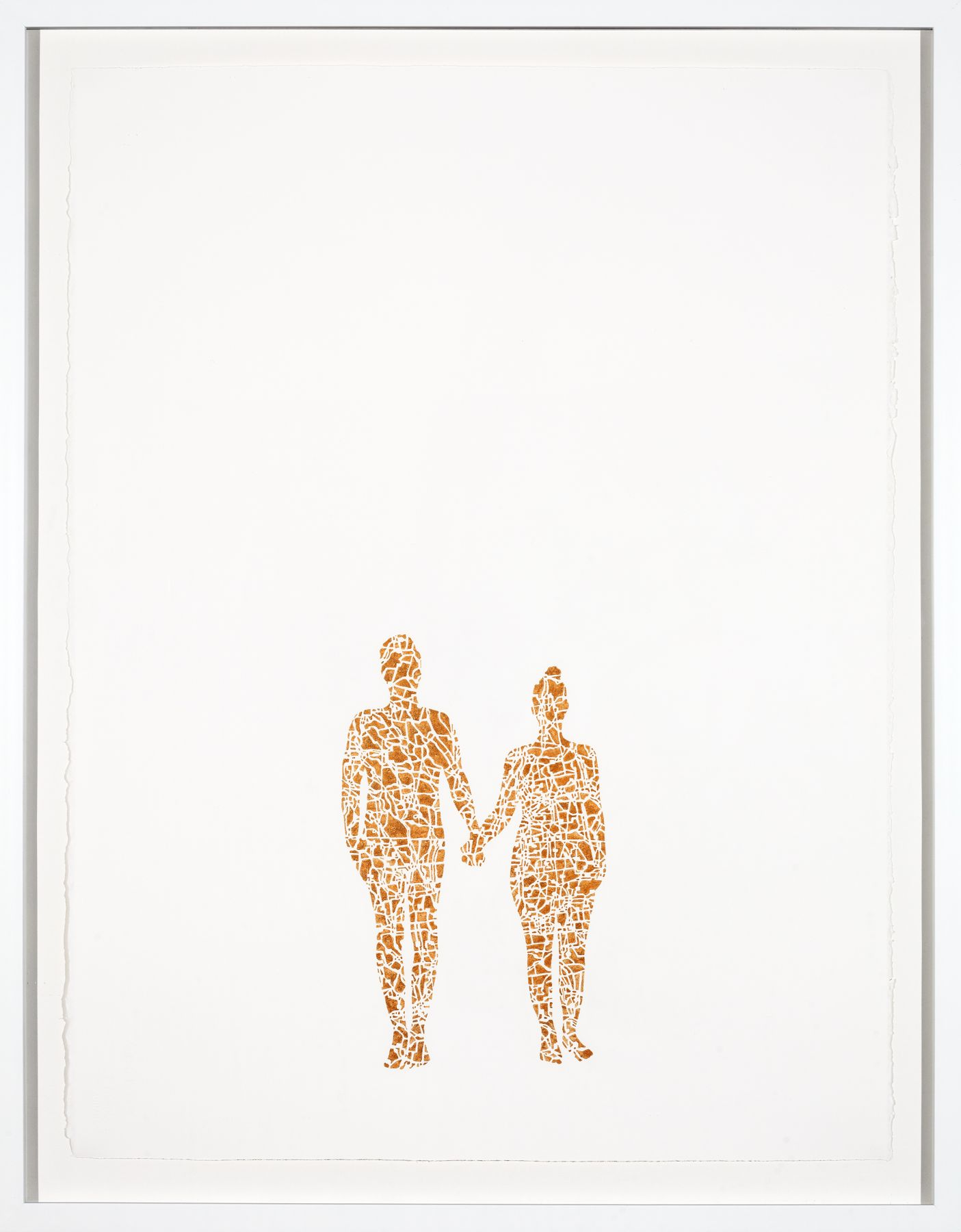 NIKKI ROSATO If I paint us (in gold) III, 2017