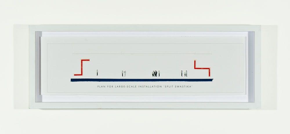 SKYLAR FEIN Plan for Large-Scale Installation: Split Swastika, 2011