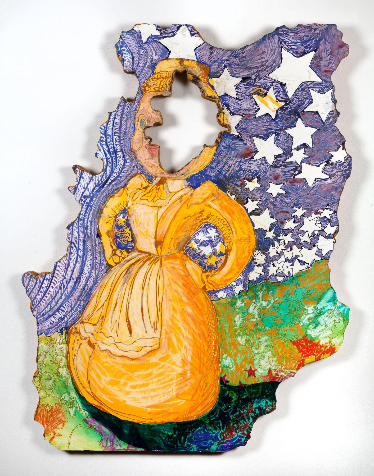 GINA PHILLIPS Stars Fell on Little Yellow Miss, 2014