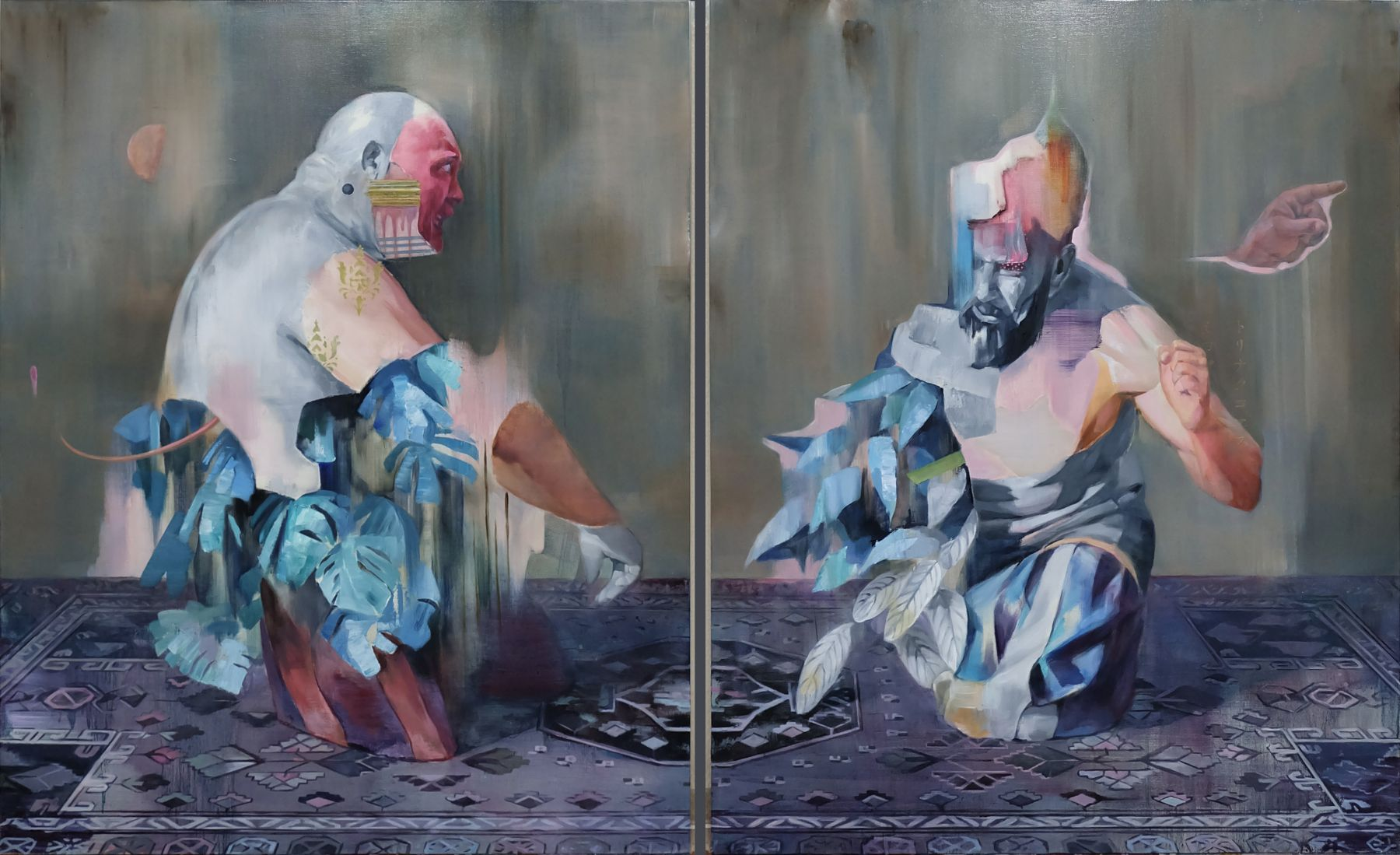 AKIHIKO SUGIURA, The game (diptych), 2019