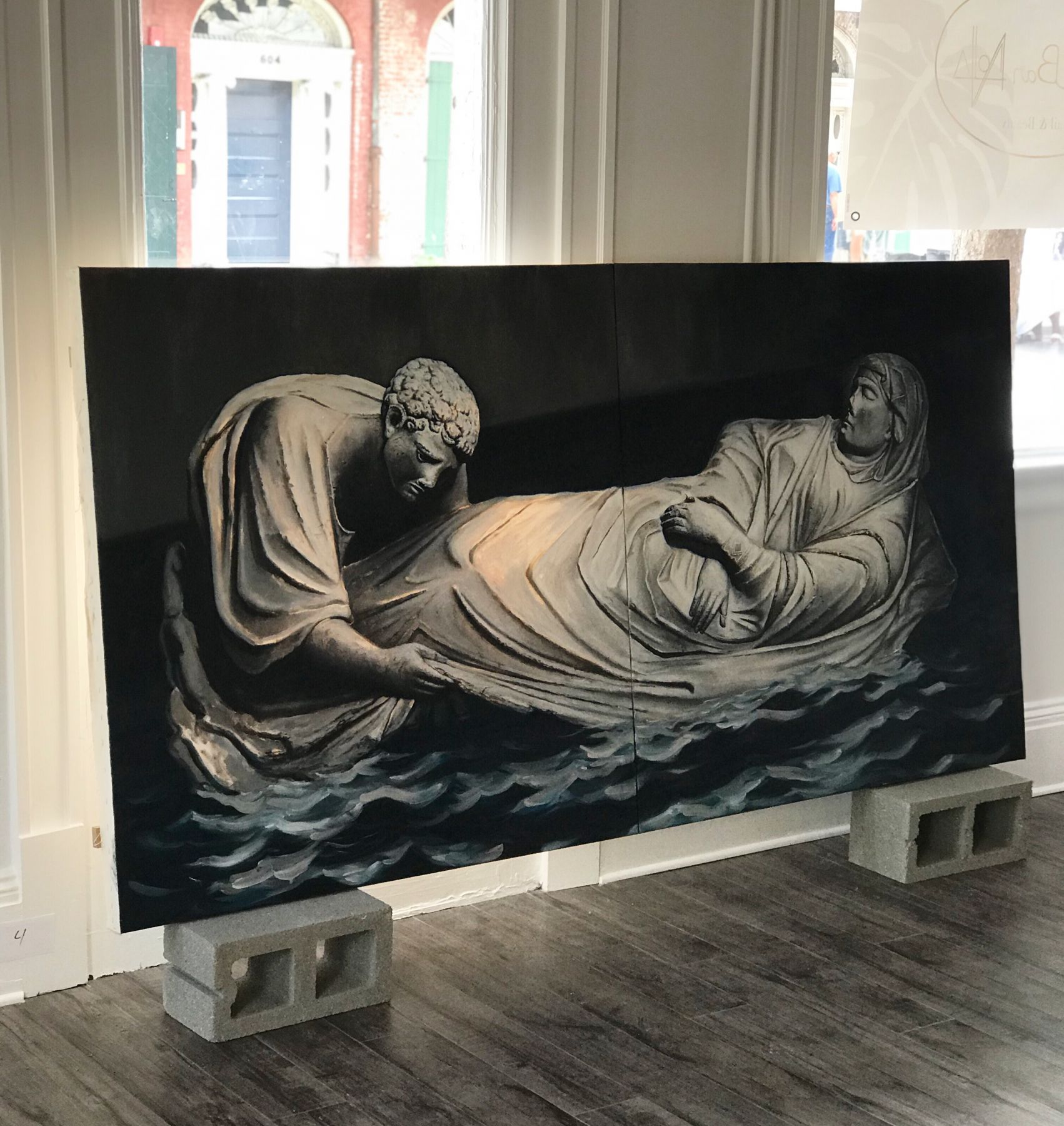 PIKI MENDIZABAL, Dormition of the Virgin (Diptych), 2017