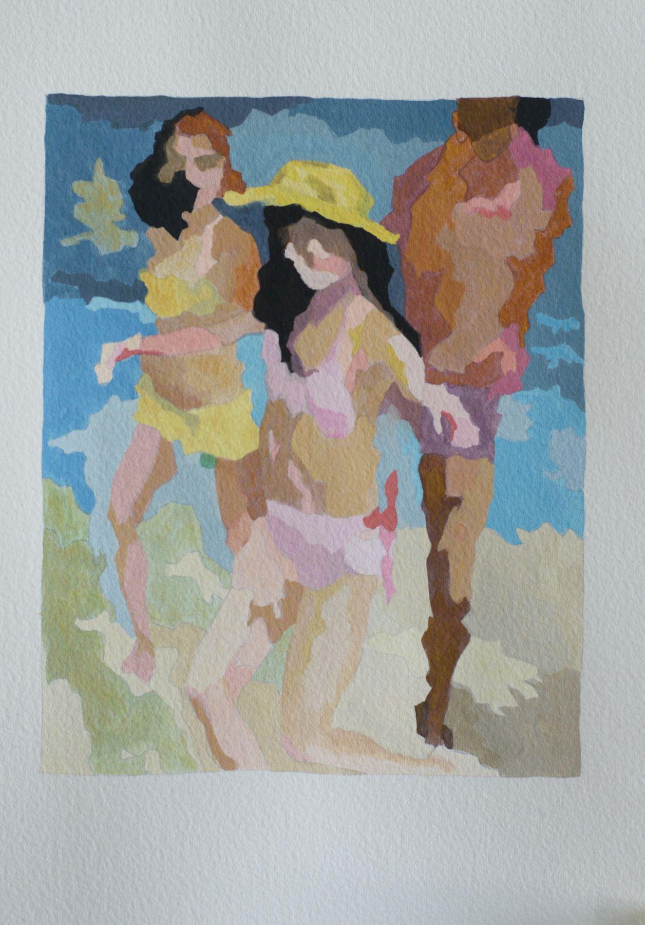RUTH OWENS, Beach Dance (study), 2018