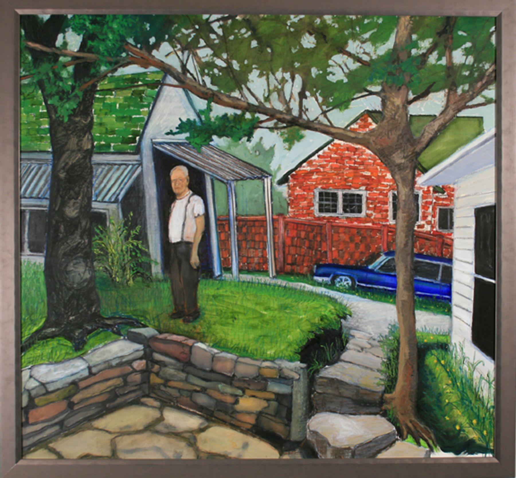 GINA PHILLIPS Memory Painting of Pawpaw, 2008