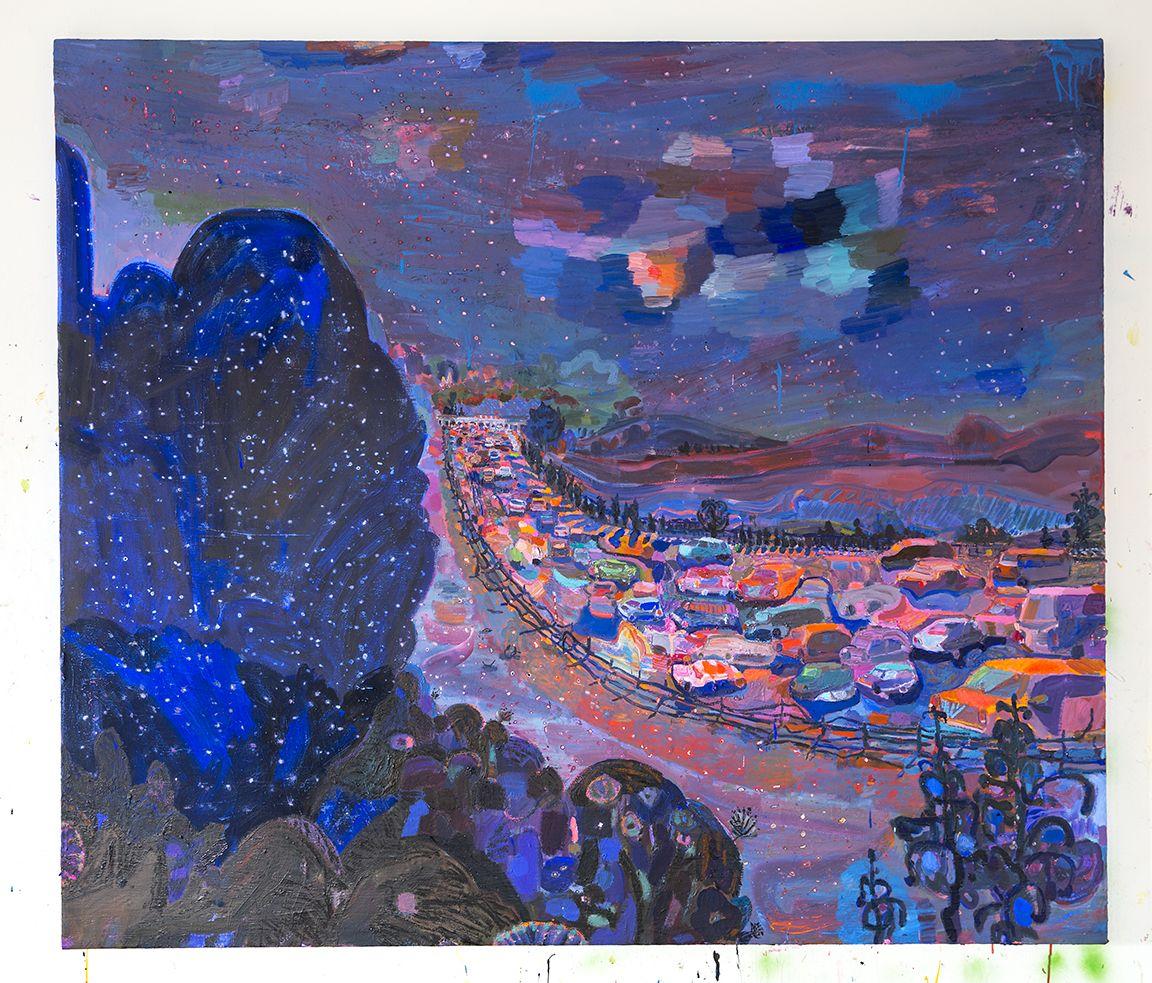 LISA SANDITZ, Northern Border Blue, 2016