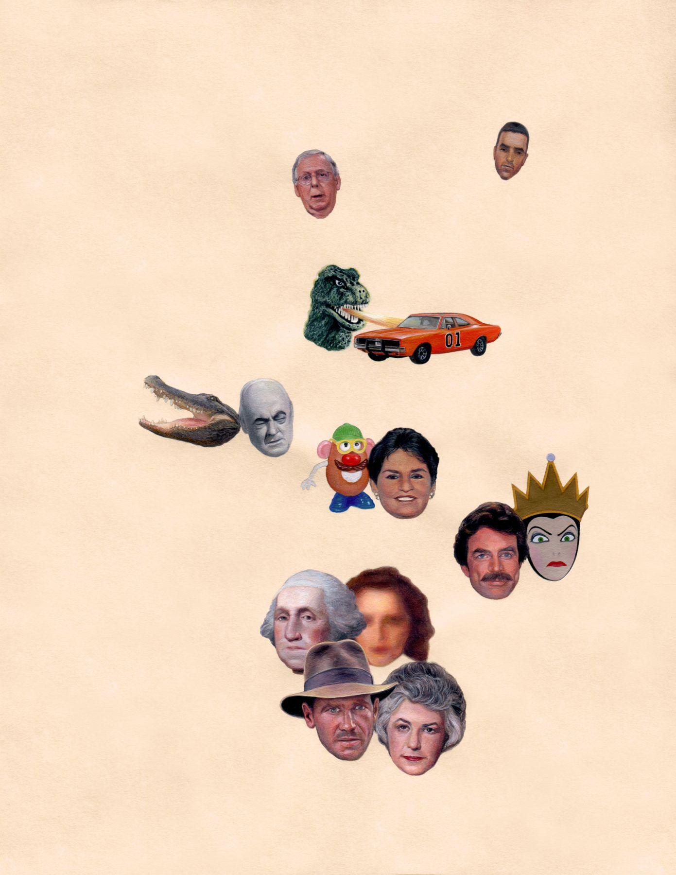 ADAM MYSOCK, A Strange Lineage of One Big Happy Family, 2018