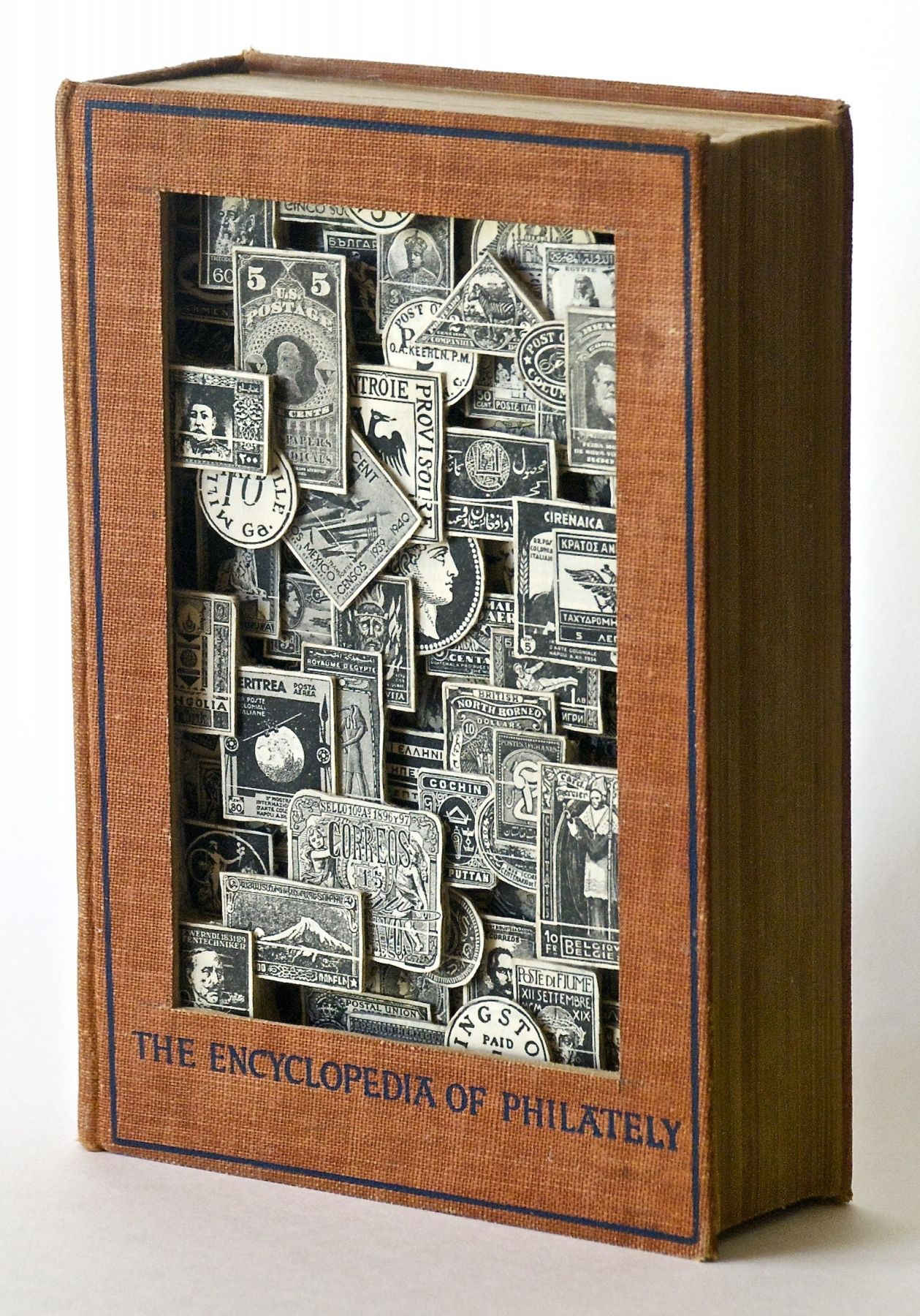 TONY DAGRADI, Encyclopedia of Philately, (front, side-view) 2018