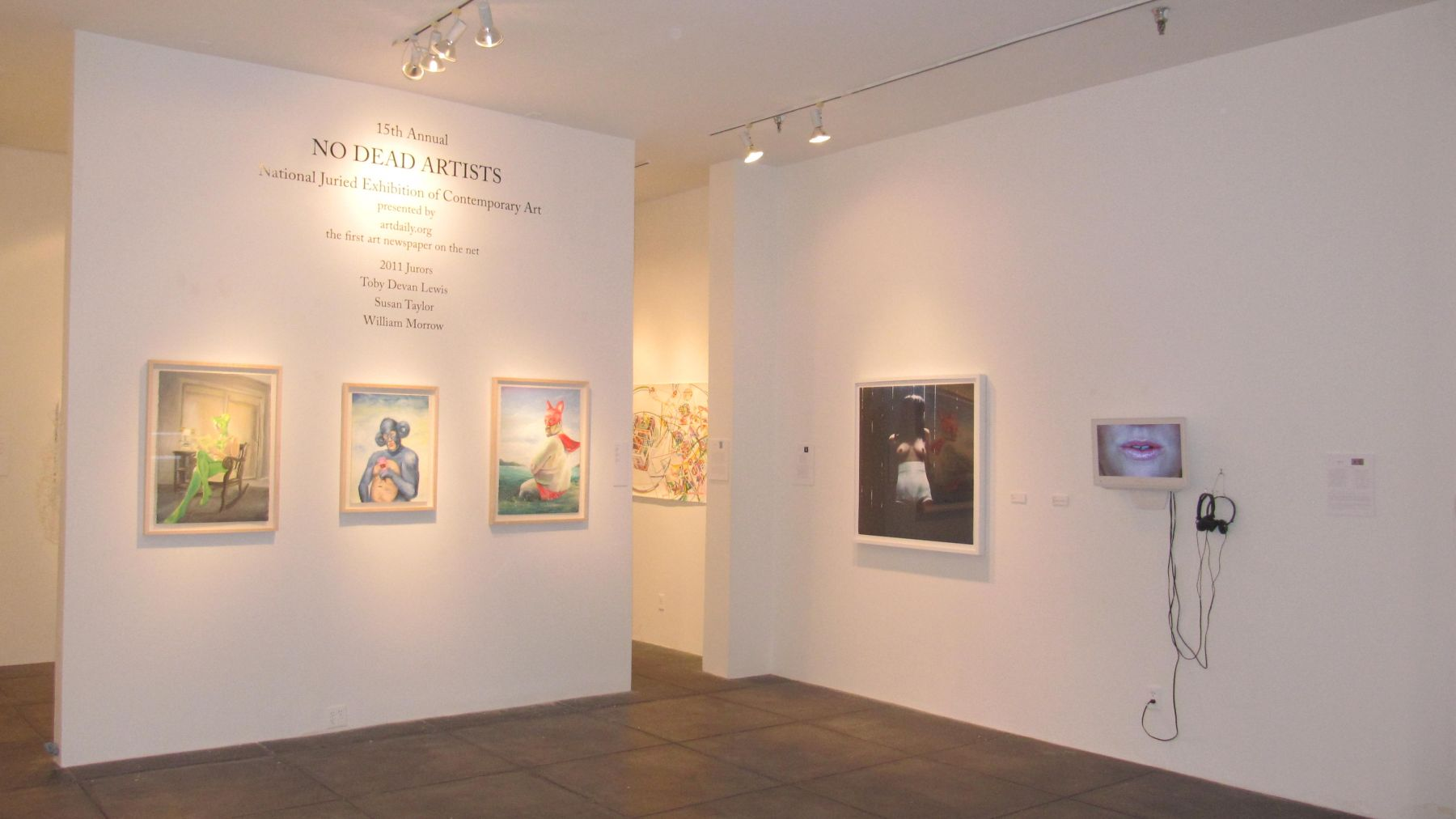 NO DEAD ARTISTS III 15th Annual National Juried Exhibition of Contemporary Art, [Main Gallery Installation View]