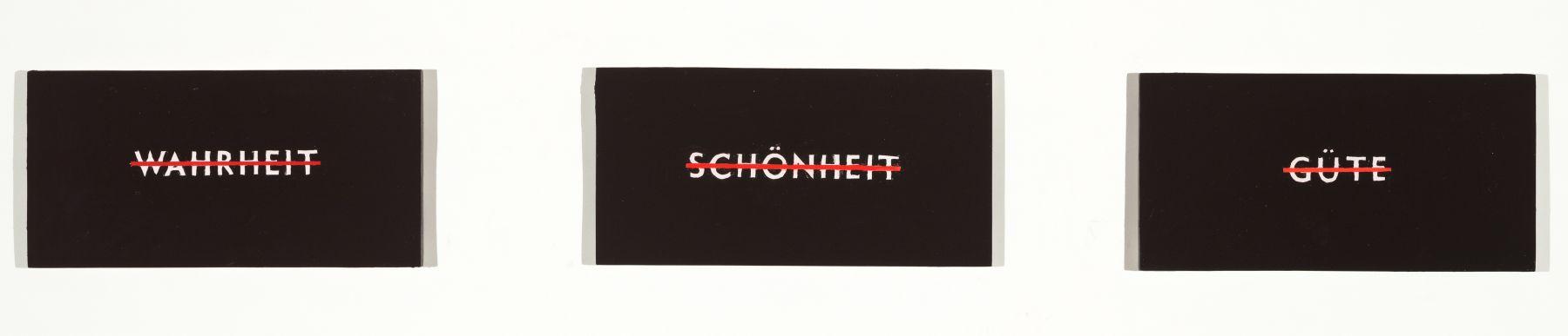 SKYLAR FEIN, Wahrheit, Schönheit, Güte (No Truth, No Beauty, No Good) (Triptych), 2019