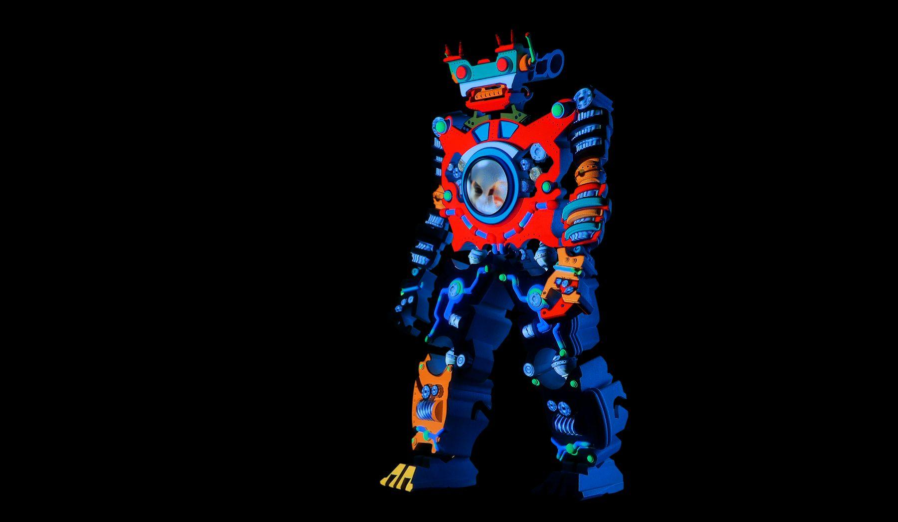 PETER SARKISIAN VideoMorphic Figure #5(Version 2) ON, 2013