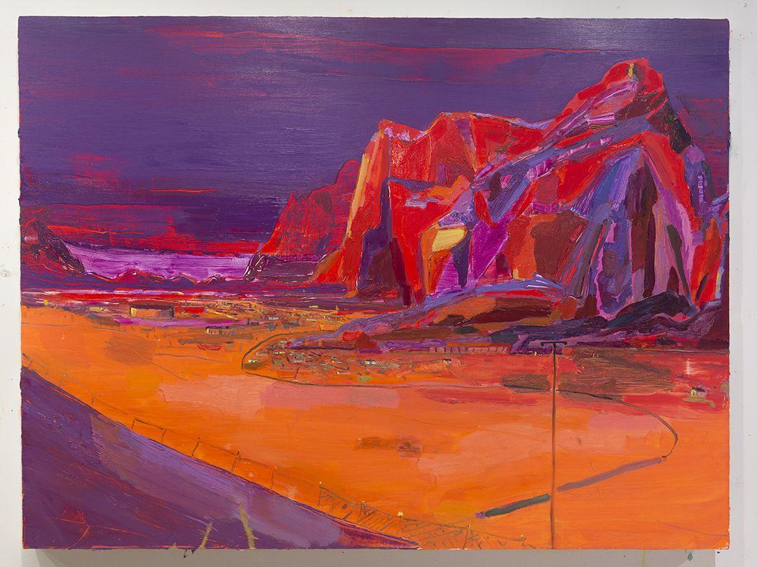 LISA SANDITZ Purple Mountains, 2015