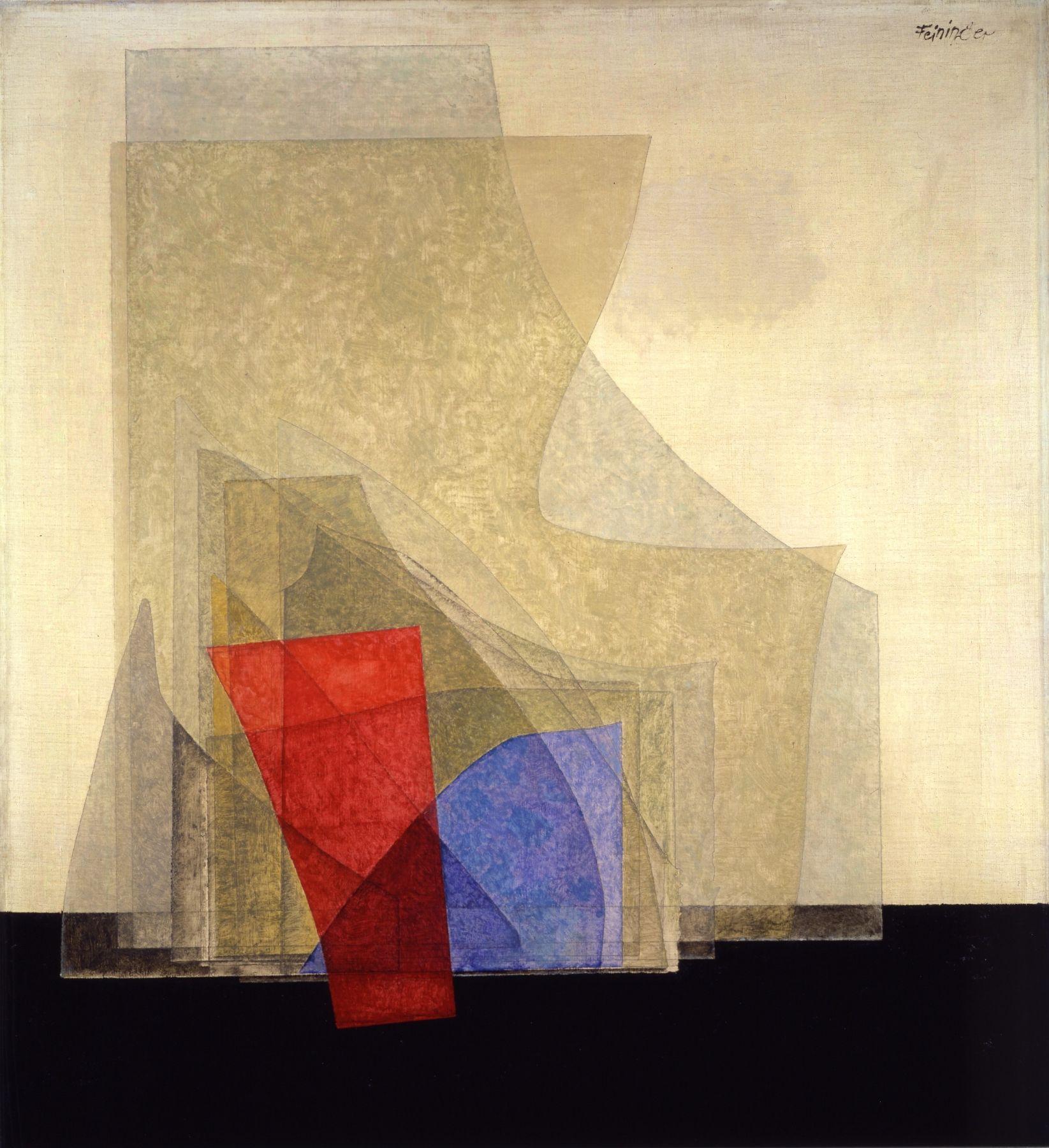 Glasscherbenbild (Broken Glass), 1927, Oil and pencil on canvas