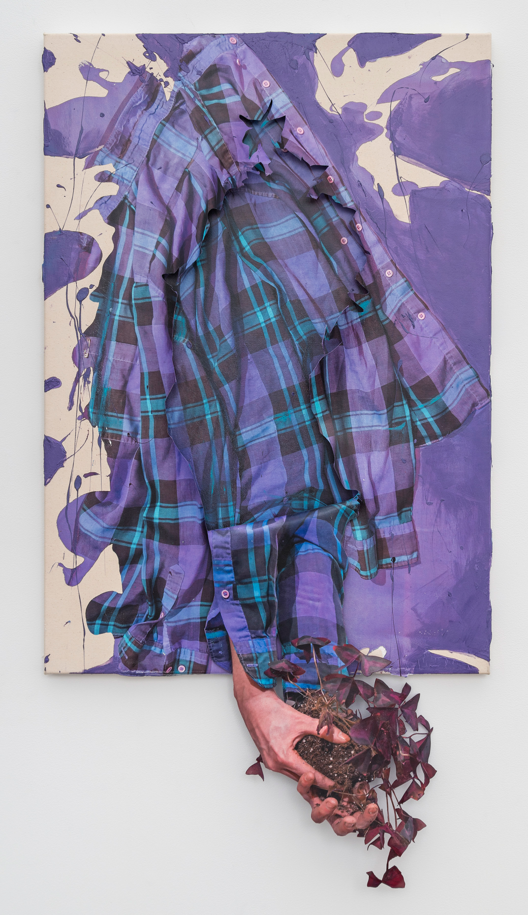 Transplant, 2019, inkjet transfer and acrylic on canvas, Permalac