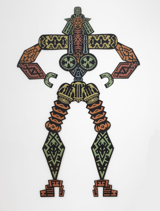 Magnet Hands, 1972, Crayon and ink on chipboard