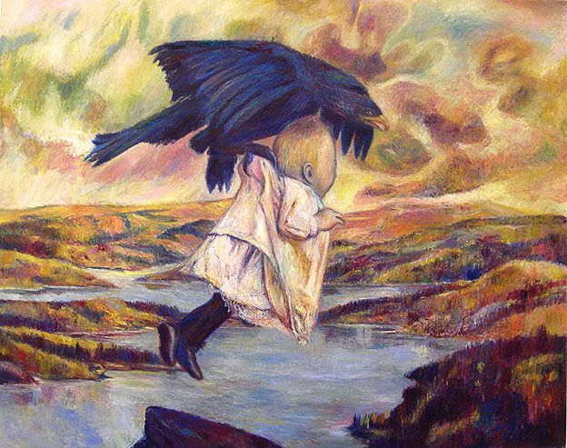 The Abduction of Ganymede (Rescued from Eagle's Nest),2006, oil on linen
