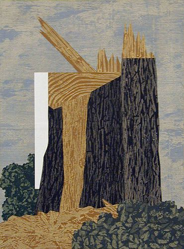 Stump, 2005, acrylic, collage on canvas