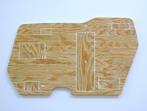 Trailer, 2005, plywood and plaster of paris