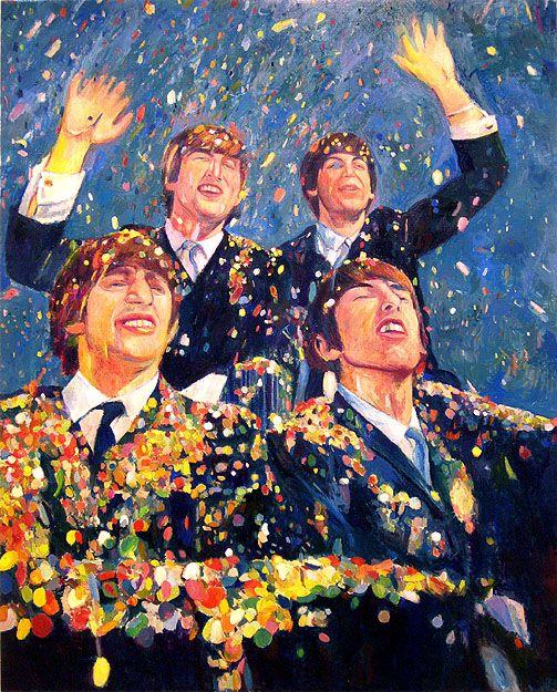 The Beatles 1964, 2006, oil on linen