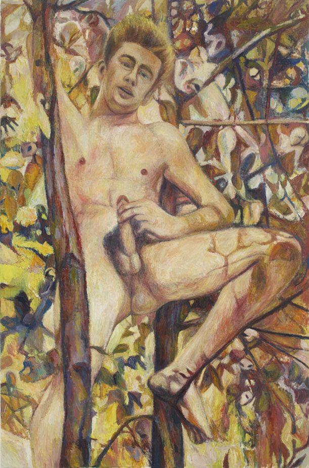 Love Triumphant (James Dean in a Tree), 2006, oil on linen