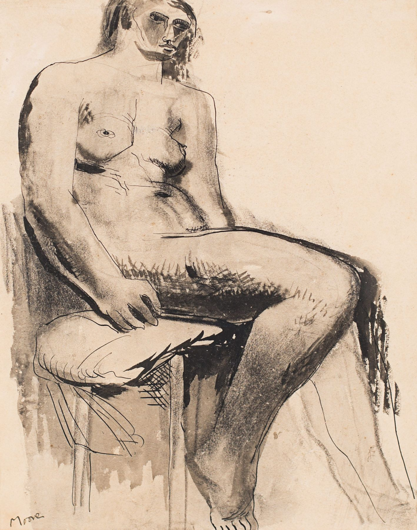 Henry Moore Seated Nude, 1929