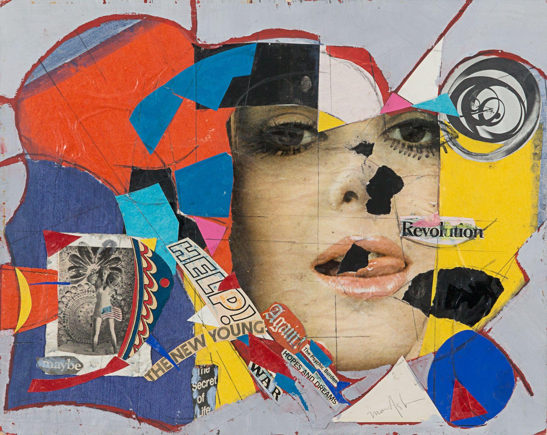 Beatrice Mandelman Collage No. 9, 1960s