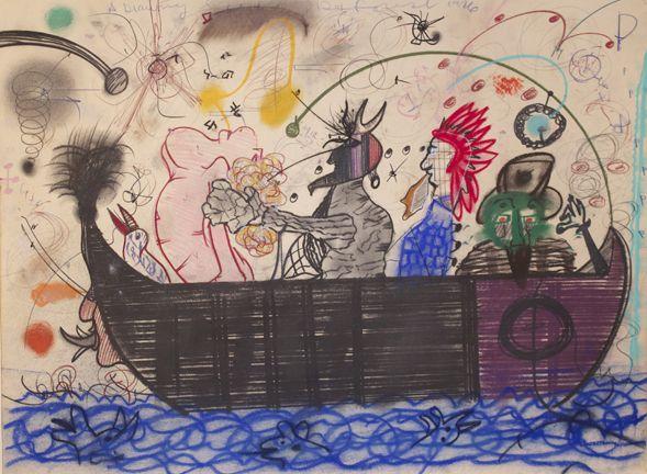 Untitled (Devil/Nude in Canoe) 1976
