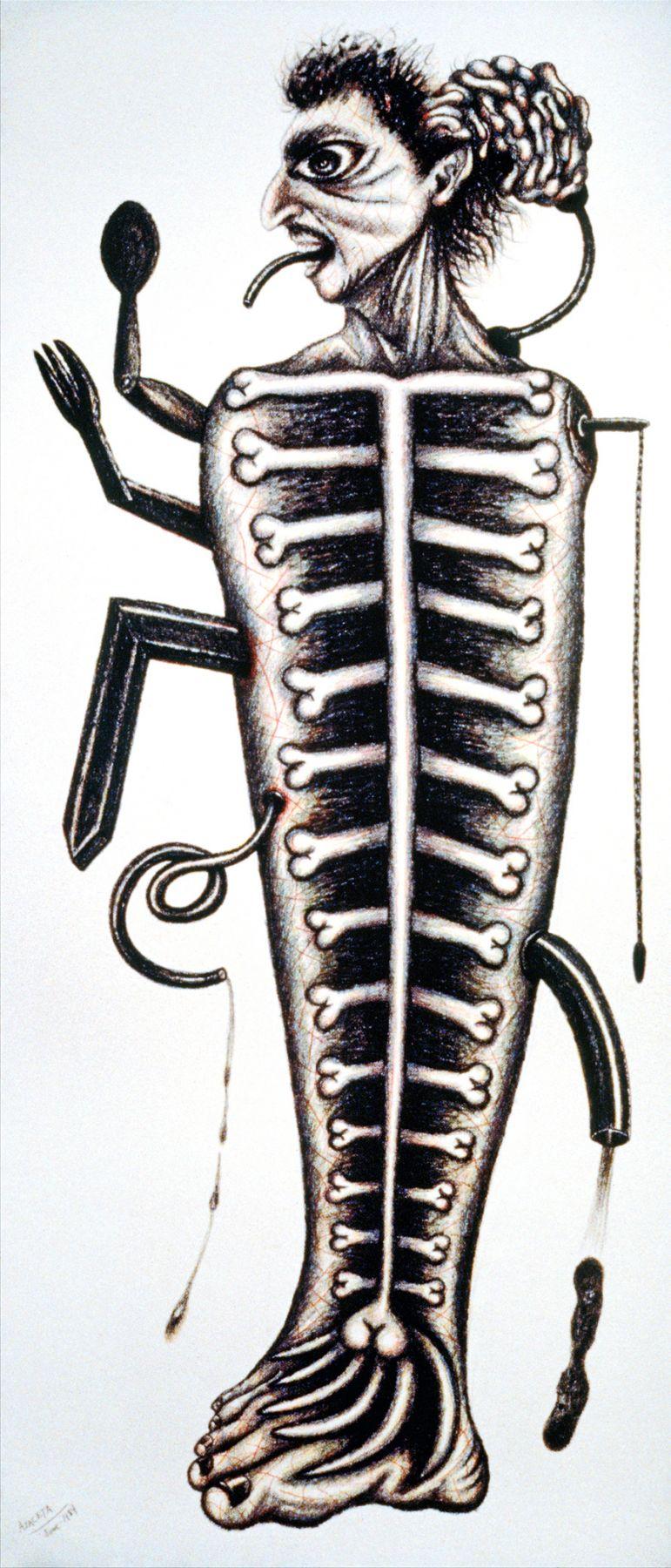 Self-Portrait: Mechanical Fish  1984