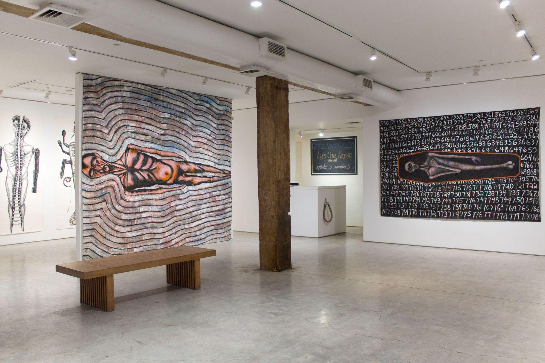 Installation view, Luis Cruz Azaceta: 1984-1989, George Adams Gallery, New York, 2018