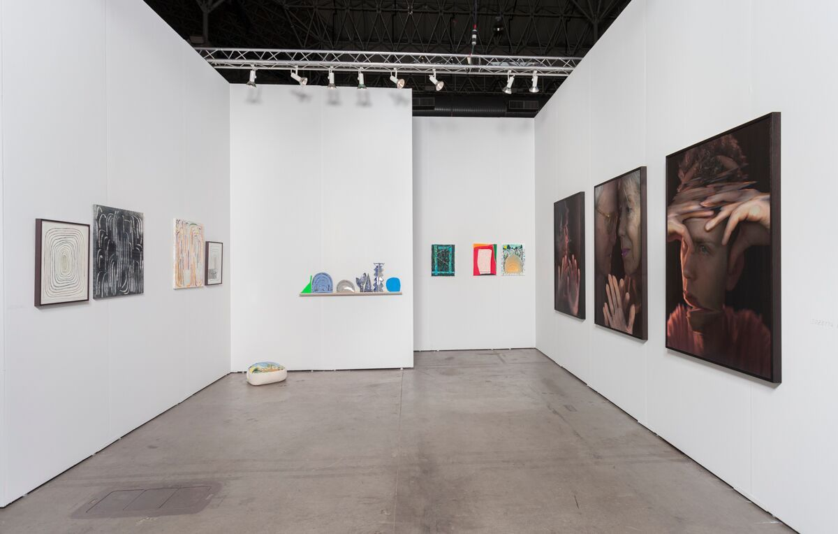 Expo Chicago Booth 553:Andy Hall, Leslie Baum,Suzette Bross