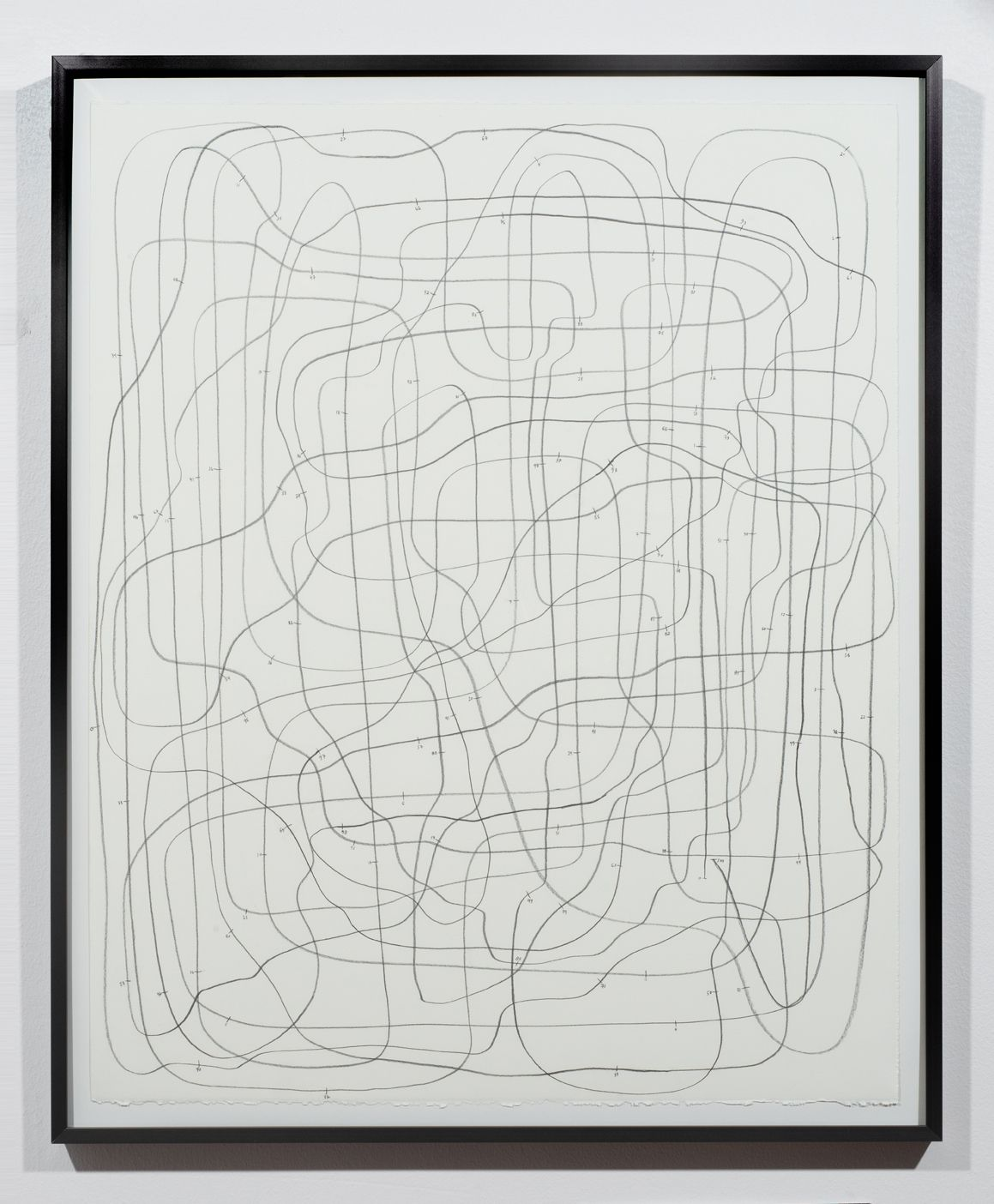 """Andy Hall,100 Footer, graphite on paper, 27"""" x 22"""", 2016"""
