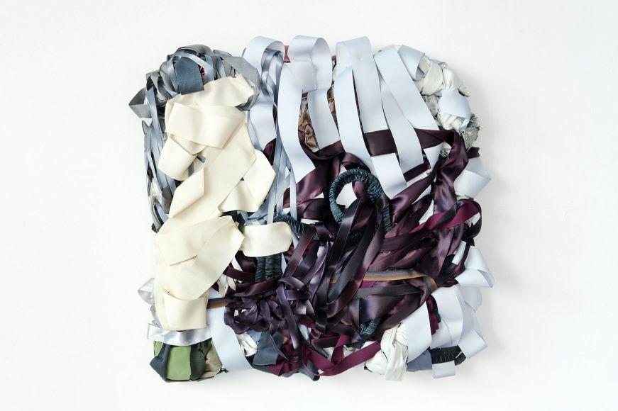 Water Samples (particle), 2013, fabric, ribbon, mixed media