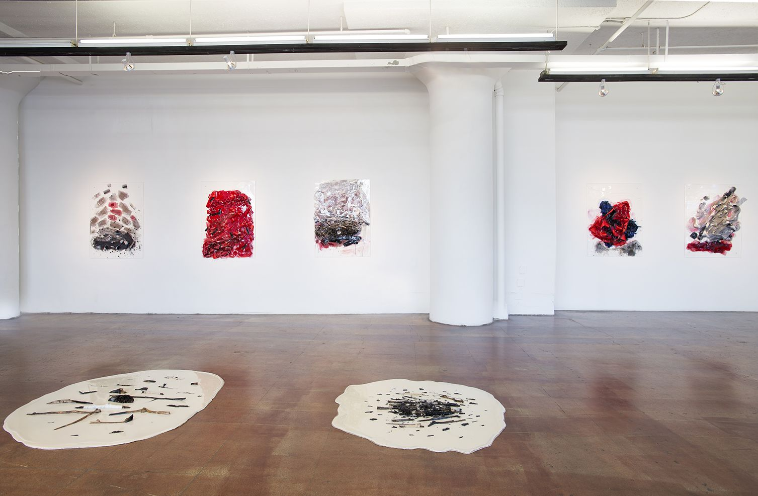 Installation View, Vadis Turner, Bells and Burn Piles, Geary Contemporary, 2016