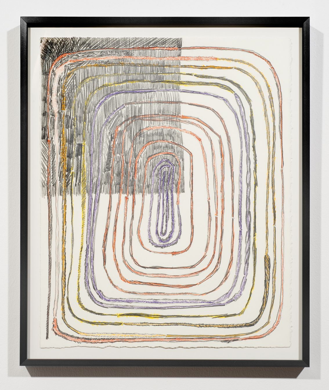 """Andy Hall,29 Footer, colored pencil and graphie on paper, 17"""" x 14"""", 2016"""