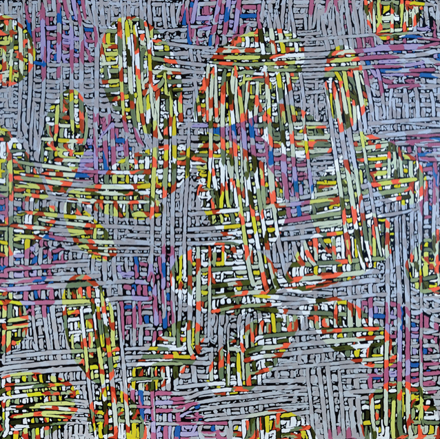 "Alex Herzog, Bahama,oil on LDF panel, 45"" x 45"", 2014"